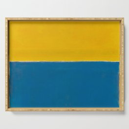 Untitled (Yellow and Blue) by Mark Rothko HD Serving Tray