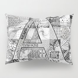 The Letter A Pillow Sham