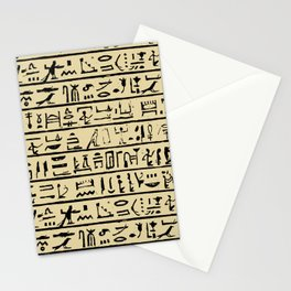Egyptian Hieroglyphics // Tan Stationery Cards