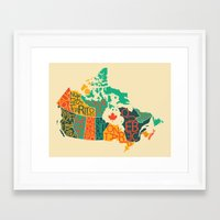 canada Framed Art Prints featuring Canada by Mohit Gupta
