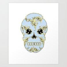 Rococo Skull Art Print