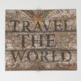 Travel The World Throw Blanket