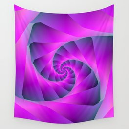 Pink and Blue Spiral Wall Tapestry