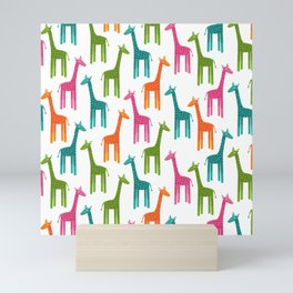 Giraffes-Multicolor Mini Art Print