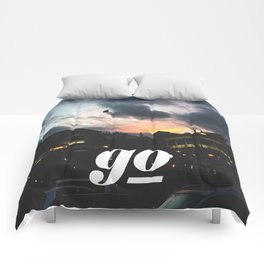 Go // #TravelSeries Comforters