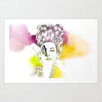 Butterfly Lady Art Print