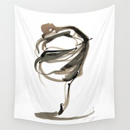 Ballet Dance Drawing Wall Tapestry