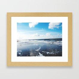 North Sea Beach Framed Art Print