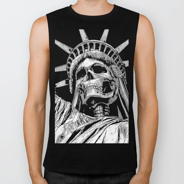 Liberty or Death B&W Biker Tank