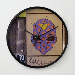 Martian street art Wall Clock