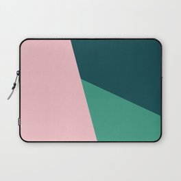 Geometric design in pink & green Laptop Sleeve