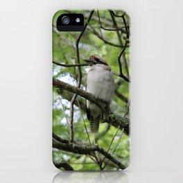 Three kookaburras sharing a laugh iPhone Case
