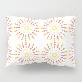 Numerous circles forming an abstract pattern on white background Pillow Sham