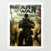 gears of war Art Prints featuring GEARS OF WAR by _C.B.Cs