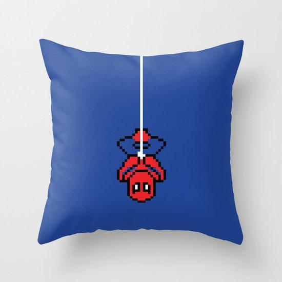Spider-Pixel Throw Pillow