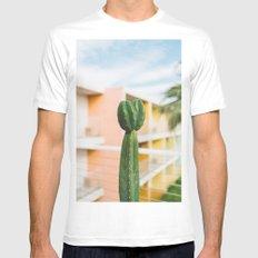 Palm Springs Cactus II Mens Fitted Tee White MEDIUM