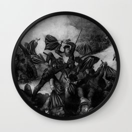 The Battle of Fort Pillow Wall Clock