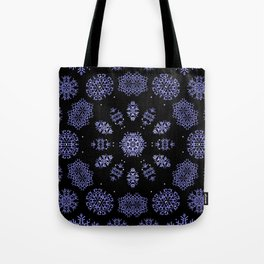 Snowflake Lights In The Park Tote Bag