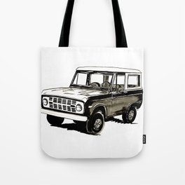 Early Bronco Tote Bag