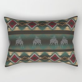 southwest stripe with horses Rectangular Pillow