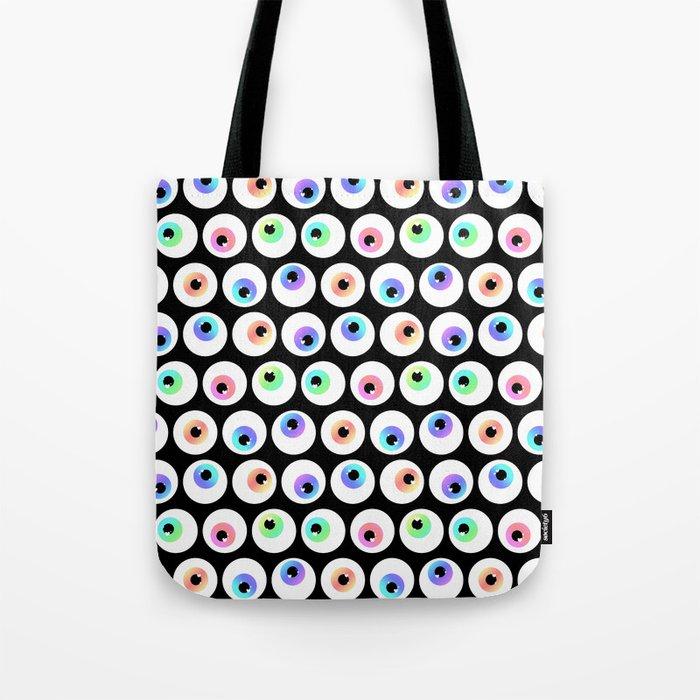 Lovely Sparkly Rainbow Eyeballs Tote Bag