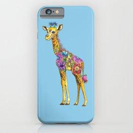 Geraldine the Geniunely Nice Giraffe Blue iPhone Case