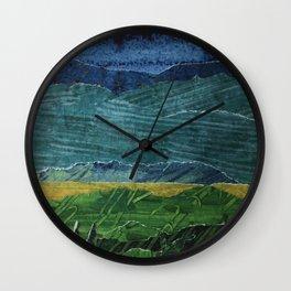 Big Sky Collage Wall Clock