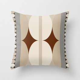 Taupe Linen Grey Neutrals Throw Pillow