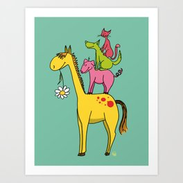 Bremen animals Art Print