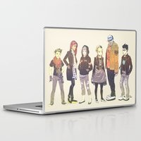 teen titans Laptop & iPad Skins featuring Teen Titans Streetwear by L. Tharp