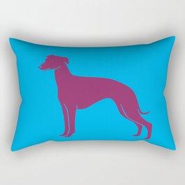 Purple color dog art print Rectangular Pillow
