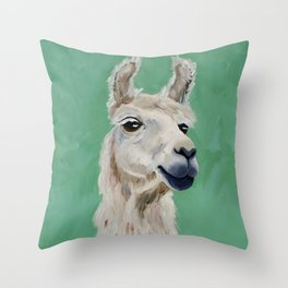 Fluffy White Wise One Throw Pillow
