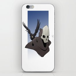 The Skull and the Raven iPhone Skin