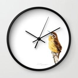 """Sweet Melody"" Carolina Wren by Teresa Thompson Wall Clock"