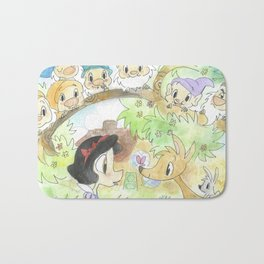 Snow White and the Seven Dwarves Bath Mat