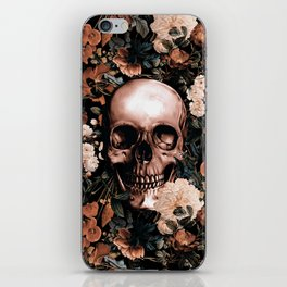SKULL AND FLOWERS II iPhone Skin