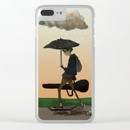 Gloomy Sunday Clear iPhone Case