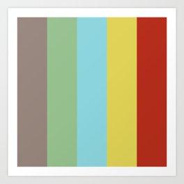 Classic Stripes Retro Style Art Print