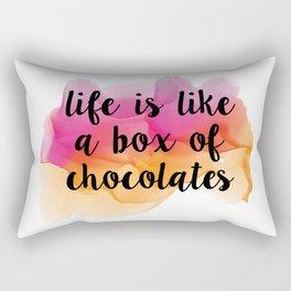 Box of chocolates Rectangular Pillow