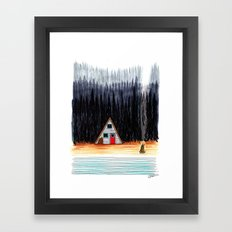 Cabin By The End Of The Road Framed Art Print