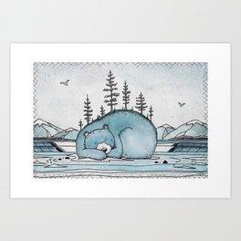 """ Winter Dreaming "" Art Print"