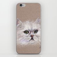 persian iPhone & iPod Skins featuring Persian cat by Pendientera