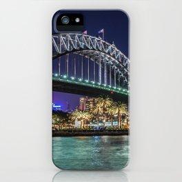 Sydney Harbor Bridge at Night iPhone Case