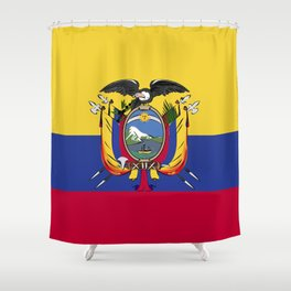 Ecuador flag emblem Shower Curtain