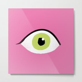 eye liner open Metal Print