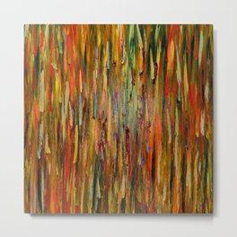 Abstract Flames Metal Print