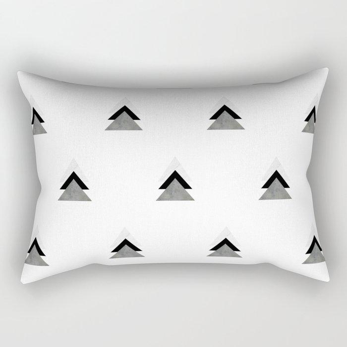 Arrows Collages Monochrome Pattern Rectangular Pillow