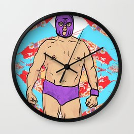 Wrestler Wall Clock