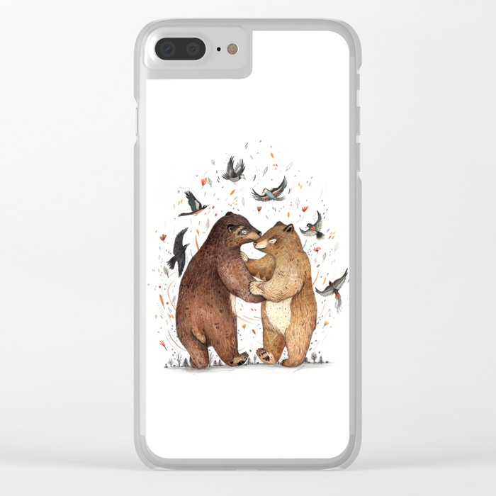 Bear Dance Clear iPhone Case