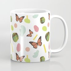 butterflies and plaid Mug